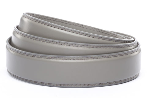 "1.25"" Grey Leather Strap - Anson Belt & Buckle"
