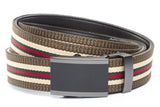 1-25-quot-onyx-buckle-in-matte-gunmetal 1-25-quot-green-red-stripe-w-trim-cloth-strap