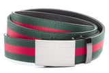 1-25-quot-classic-buckle-in-formal-gunmetal 1-25-quot-green-red-stripe-cloth-strap