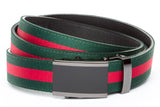 1-25-quot-onyx-buckle-in-smoked-gunmetal 1-25-quot-green-red-stripe-cloth-strap