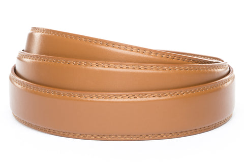 "1.25"" Light Brown Leather Strap - Anson Belt & Buckle"