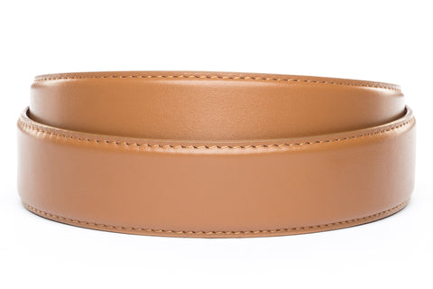 "1.5"" Light Brown Leather Strap - Anson Belt & Buckle"