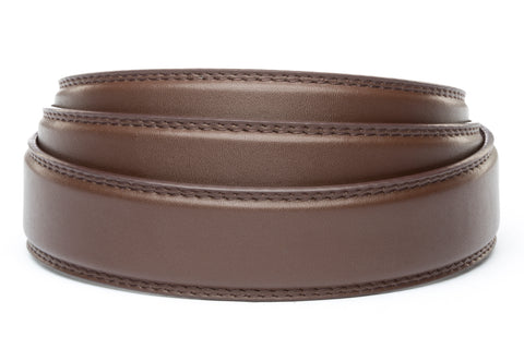 "1.25"" Chocolate Micro Strap - Anson Belt & Buckle"