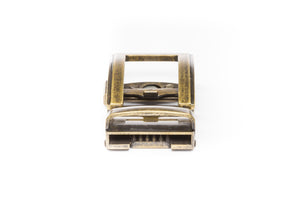 "1.5"" Traditional Buckle in Antiqued Gold - Anson Belt & Buckle"