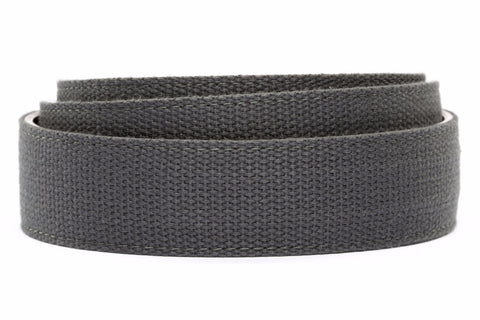 "1.5"" Graphite Canvas Strap - Anson Belt & Buckle"