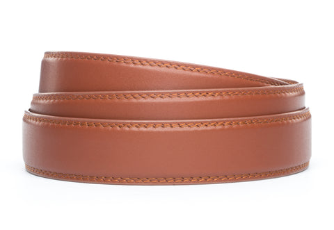 "**FACTORY SECOND** 1.25"" Cognac Leather Strap - Anson Belt & Buckle"