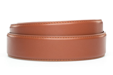 "1.5"" Cognac Leather Strap - Anson Belt & Buckle"