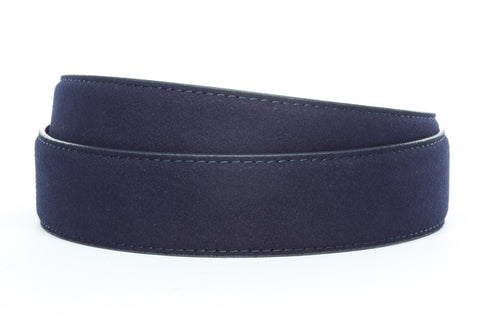 "1.5"" Navy Micro-Suede Strap"