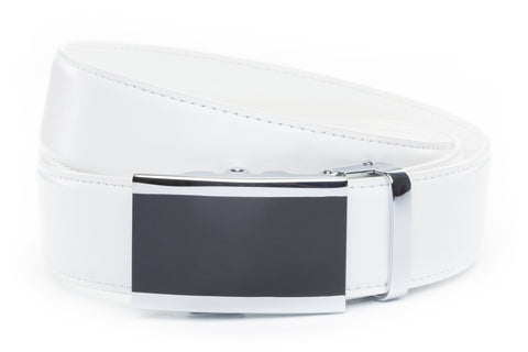 1-5-quot-onyx-buckle-in-silver 1-5-quot-white-leather-strap