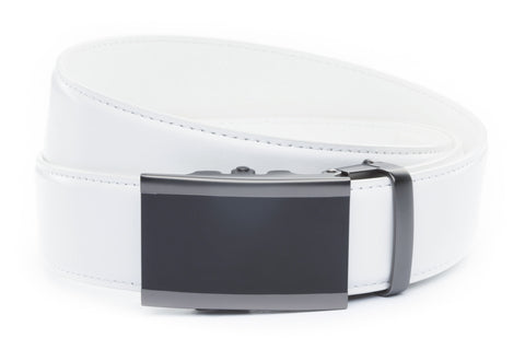 1-5-quot-onyx-buckle-in-matte-gunmetal 1-5-quot-white-leather-strap