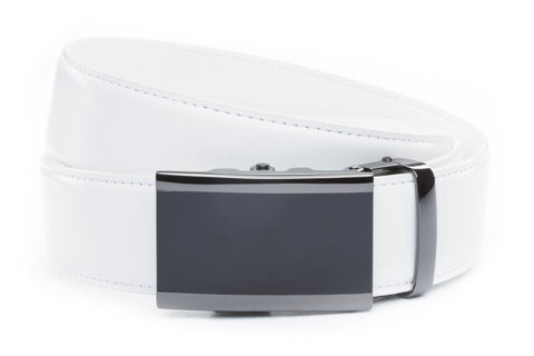 1-5-quot-onyx-buckle-in-smoked-gunmetal 1-5-quot-white-leather-strap