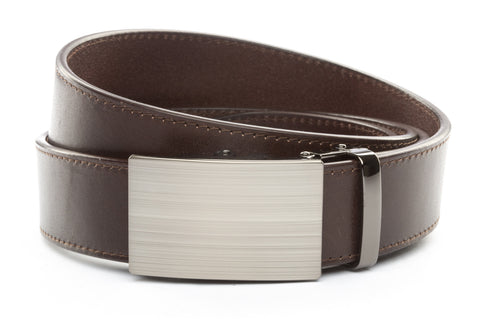 1-5-quot-classic-buckle-in-formal-gunmetal 1-5-quot-chocolate-vegetable-tanned-leather-strap