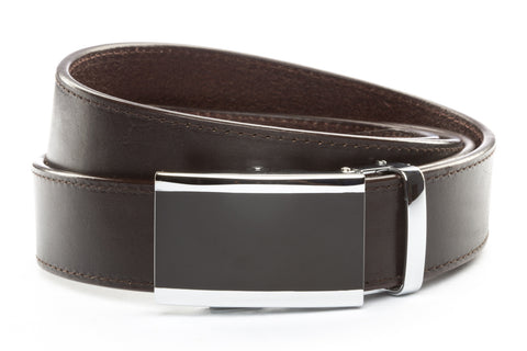 1-5-quot-onyx-buckle-in-silver 1-5-quot-espresso-vegetable-tanned-leather-strap
