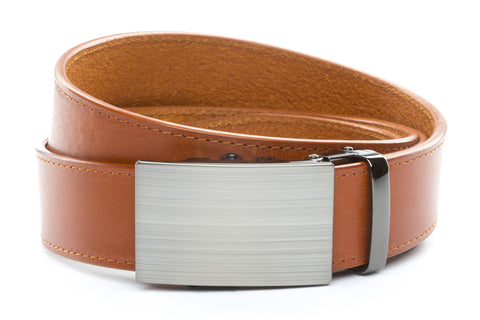 1-5-quot-classic-buckle-in-formal-gunmetal 1-5-quot-saddle-tan-vegetable-tanned-leather-strap