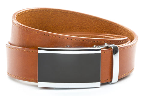 1-5-quot-onyx-buckle-in-silver 1-5-quot-saddle-tan-vegetable-tanned-leather-strap