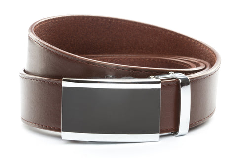 1-5-quot-onyx-buckle-in-silver 1-5-quot-picante-vegetable-tanned-leather-strap