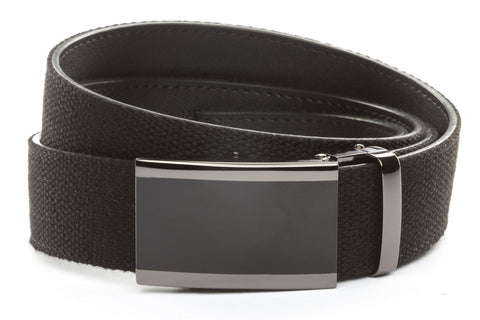1-5-quot-onyx-buckle-in-smoked-gunmetal xl-1-5-quot-black-canvas-strap