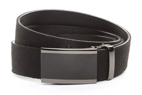 1-5-quot-onyx-buckle-in-smoked-gunmetal 1-5-quot-black-canvas-strap