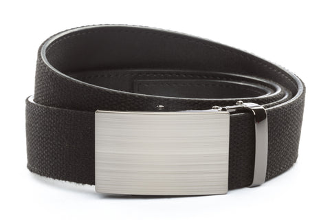 1-5-quot-classic-buckle-in-formal-gunmetal xl-1-5-quot-black-canvas-strap