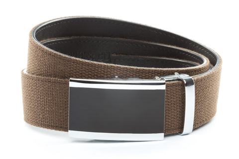 1-5-quot-onyx-buckle-in-silver 1-5-quot-brown-canvas-strap
