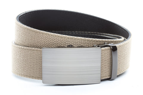 1-5-quot-classic-buckle-in-formal-gunmetal 1-5-quot-khaki-canvas-strap