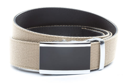 1-5-quot-onyx-buckle-in-silver 1-5-quot-khaki-canvas-strap