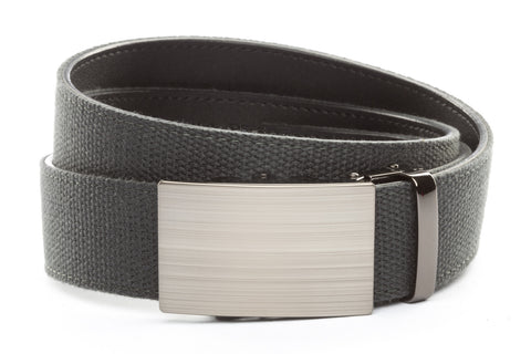 1-5-quot-classic-buckle-in-formal-gunmetal 1-5-quot-graphite-canvas-strap