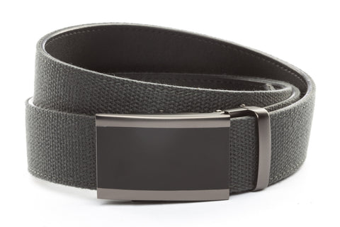 1-5-quot-onyx-buckle-in-matte-gunmetal 1-5-quot-graphite-canvas-strap