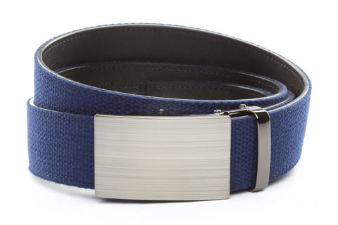1-5-quot-classic-buckle-in-formal-gunmetal 1-5-quot-navy-canvas-strap