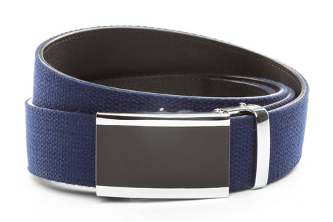 1-5-quot-onyx-buckle-in-silver 1-5-quot-navy-canvas-strap