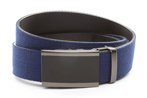 1-5-quot-onyx-buckle-in-matte-gunmetal 1-5-quot-navy-canvas-strap