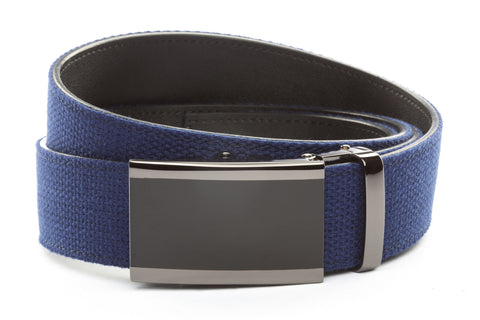 1-5-quot-onyx-buckle-in-smoked-gunmetal 1-5-quot-navy-canvas-strap