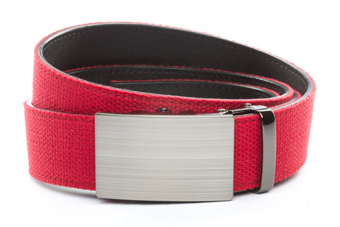 1-5-quot-classic-buckle-in-formal-gunmetal 1-5-quot-red-canvas-strap