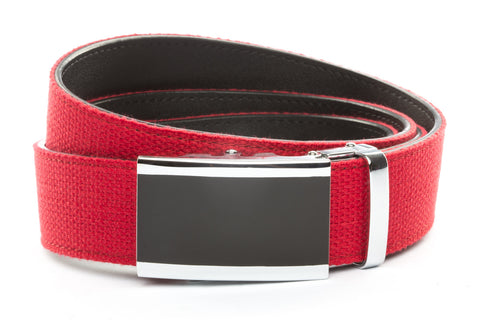 1-5-quot-onyx-buckle-in-silver 1-5-quot-red-canvas-strap
