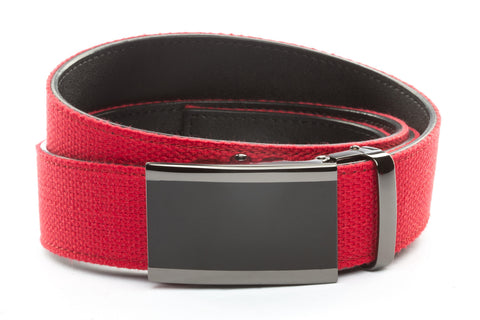 1-5-quot-onyx-buckle-in-smoked-gunmetal 1-5-quot-red-canvas-strap