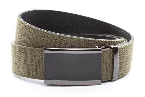1-5-quot-onyx-buckle-in-smoked-gunmetal 1-5-quot-olive-drab-canvas-strap