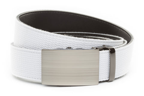 1-5-quot-classic-buckle-in-formal-gunmetal 1-5-quot-white-canvas-strap