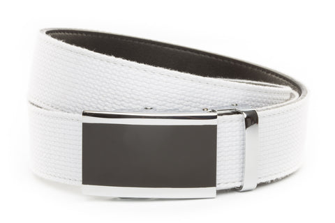 1-5-quot-onyx-buckle-in-silver 1-5-quot-white-canvas-strap