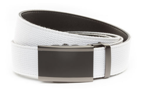 1-5-quot-onyx-buckle-in-matte-gunmetal 1-5-quot-white-canvas-strap