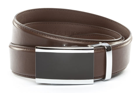 1-5-quot-onyx-buckle-in-silver 1-5-quot-dark-brown-leather-strap