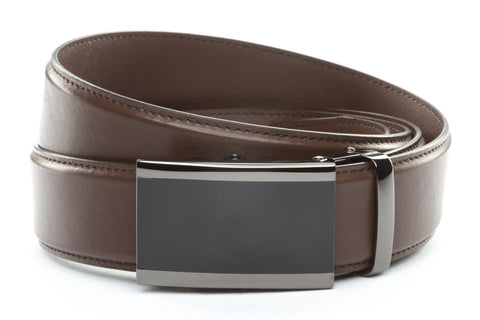 1-5-quot-onyx-buckle-in-smoked-gunmetal 1-5-quot-dark-brown-leather-strap