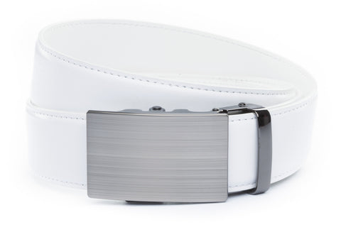 1-5-quot-classic-buckle-in-formal-gunmetal 1-5-quot-white-leather-strap