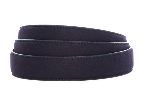 "1.25"" Navy Micro-Suede Strap"