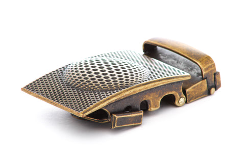 "1.5"" Anson Golf Buckle in Antiqued Gold"