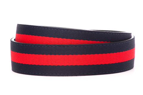 "1.5"" Navy w/Red Stripe Cloth Strap"