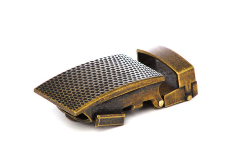 "1.25"" Anson Golf Buckle in Antiqued Gold"