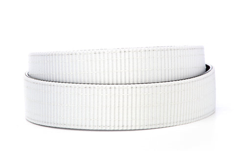"1.5"" White Nylon Strap - Anson Belt & Buckle"