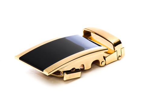 "1.5"" Onyx Buckle in Gold"