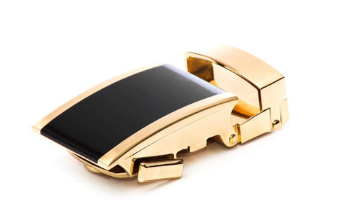 "**FACTORY SECOND**  1.25"" Onyx Buckle in Gold - Anson Belt & Buckle"