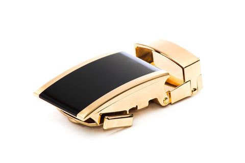 "1.25"" Onyx Buckle in Gold"